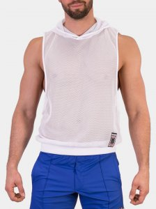 Barcode Berlin Ari Mesh Muscle Top T Shirt White 91434-200