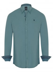Giorgio Di Mare Worked Long Sleeved Shirt Water Green GI8496500