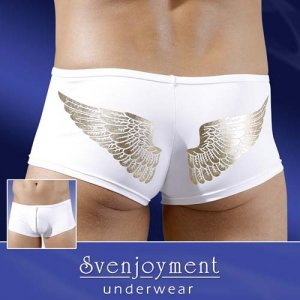 Svenjoyment Angle Wings Zipper Boxer Brief Underwear White/Gold 2131285