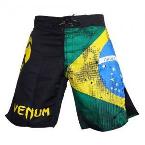 Venum Brazilian Flag Fight Boardshorts Beachwear Black