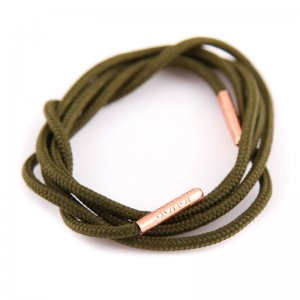 Bondi Laces Dress Laces Baggy Green / Rose Gold Tips DRESGR2...