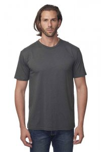 Royal Apparel Unisex Viscose Bamboo Organic Cotton Short Sleeved T Shirt Pewter 73051