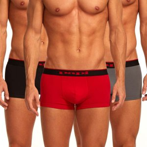 Papi [3 Pack] Cotton Stretch Brazilian Trunk Underwear Red 980501