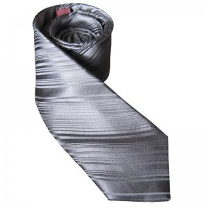 Distino Of Melbourne Self Stripe Slim Nude Silk Necktie Silv...