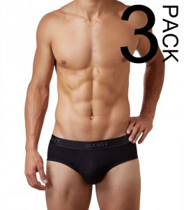2(x)ist [3 Pack] Cotton Contour Pouch Brief Underwear Black 3102030303-004NL