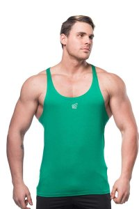 Jed North Classic Stringer Tank Top T Shirt Green TANK007