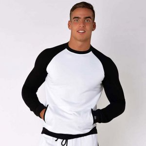 Roberto Lucca Sporty Sweat Long Sleeved T Shirt White/Black ...