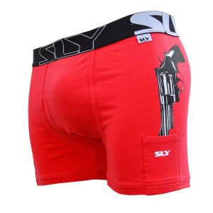 Sly Underwear Cop Issue Boxer Brief Underwear Red BUWCIR