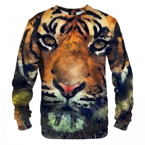 Mr. Gugu & Miss Go Aquarelle Tiger Unisex Sweater S-PC719