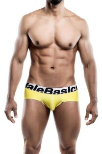 MaleBasics Performance Microfiber Brief Underwear Yellow MBM...