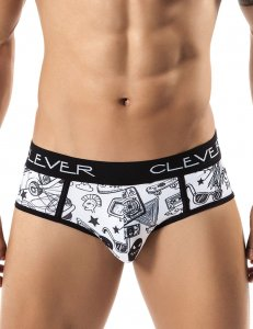 Clever Van Piping Brief Underwear Black 5237