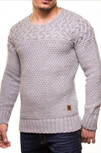 Carisma Knitted Long Sleeved 9516-3 Sweater Grey