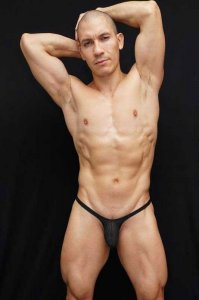 Arroyman Bulge Mesh Thong Underwear Black BUD041