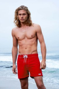 Sauvage Low Tide Surf Shorts Swimwear Red 555