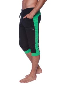 4-rth Cuffed Yoga 3/4 Pants Black/Green