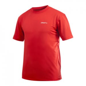Craft Active Run Short Sleeved T Shirt Core Red 199205