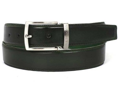 Paul Parkman Hand Painted Leather Belt Dark Green B01-DARK-G...