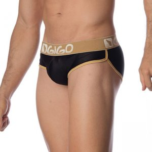 Gigo BRIGHT BLACK Brief Underwear G01097