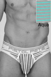 Pistol Pete Surfline Brief Underwear Aqua UB263-118