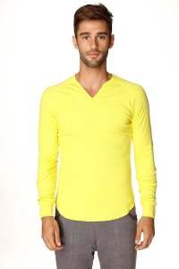 4-rth Thermal V Neck Long Sleeved T Shirt Tropic Yellow