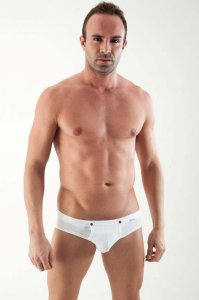 Geronimo Detachable Pouch Brief Underwear White 1353S2