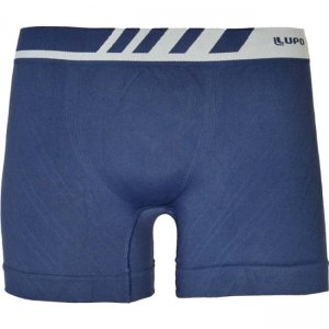 Lupo Seamless Microfiber Boxer Brief Underwear Blue 671-2
