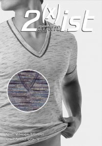 Clearance 2xist Static Deep V Neck T Shirt Grey 4910
