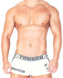 Two Much No 5 Loose Boxer Shorts Underwear White TK003