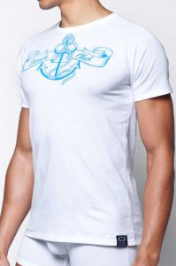 2EROS Anchor Short Sleeved T Shirt White T20