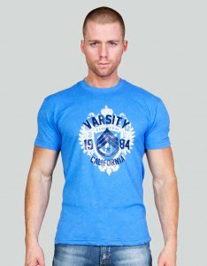 Timoteo Sergeant Short Sleeved T Shirt Blue 7247