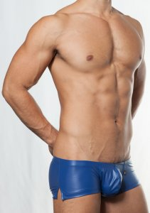 Toot Leather Like Stretch Nano Trunk Underwear Blue NB86E385