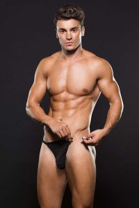 Envy Microfiber Magnetic Thong Underwear Black E042