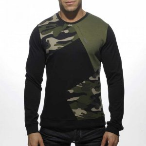 ES Collection Collage Camouflage Sweater Black/Dark Green SP...