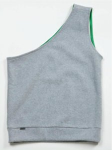 Sopopular Jakob Pull Under Part 2 One Strap Tank Top T Shirt Grey 207-10-11-125