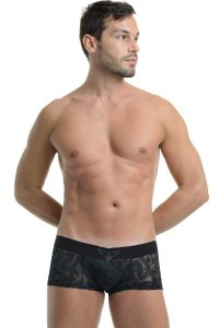 L'Homme Invisible Devore Tattoo V Boxer Brief Underwear Black MY19-D11