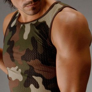 Clearance ES Collection Open Lycra Sleeveless T Shirt Camouflage 260