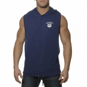ES Collection Cotton Sport Hoody Sleeveless Sweater Navy TS0...