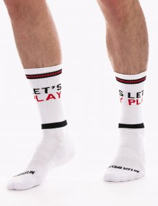 Barcode Berlin Lets Play Gym Socks White/Black/Red 91626-225