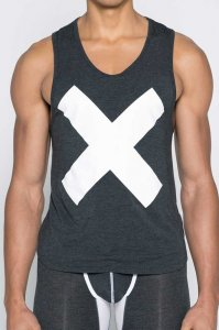 2EROS X Series Tank Top T Shirt Black Marle TX16