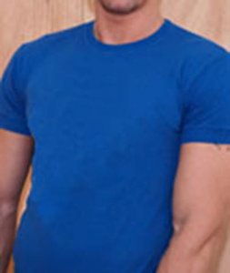 Ajaxx63 Athletic Fit Barefront Short Sleeved T Shirt Royal Blue BAS16