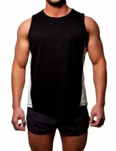 Gym Clothing Dri Fit Running Muscle Top T Shirt Black
