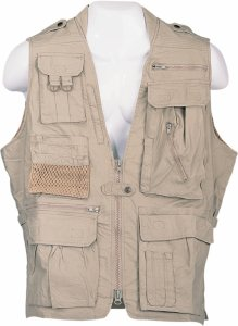 Humvee Safari Vest Jacket Khaki HMV-VS