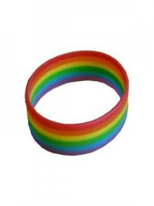 DBE [12 Pack] Wide Silicone Armband Rainbow