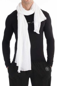 L'Homme Invisible Sarong Scarf White AC01-SCA-002