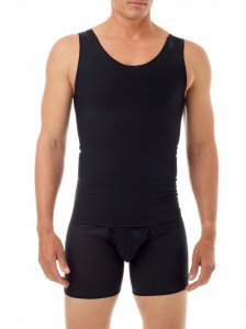 Underworks Shapewear Ultimate Double Panel Chest Binder Compression Bodysuit Black 967101