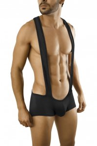 Candyman Suspenders Boxer Brief Underwear Black 9596