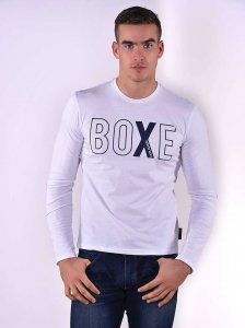 Roberto Lucca BOXE Slim Fit Long Sleeved T Shirt White 80218-01080