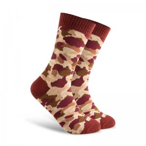 Curious Beaver Camo Socks Red CBM