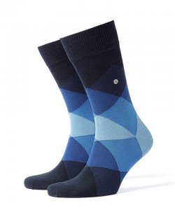 Burlington Clyde Socks Navy 20942