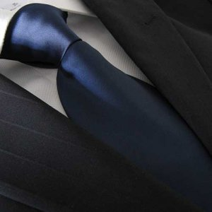 Distino Of Melbourne Polyester Buio Blu Necktie Navy Blue DP...